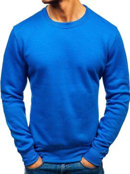 Bolf Herren Sweatshirt ohne Kapuze Blau  BO-01