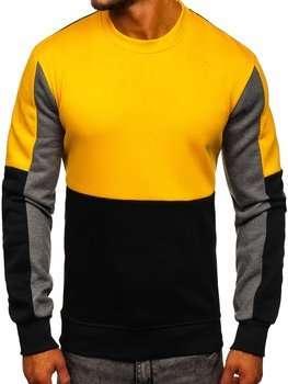 Bolf Herren Sweatshirt ohne Kapuze Gelb  KS2222