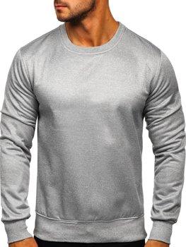 Bolf Herren Sweatshirt ohne Kapuze Grau  2001-2