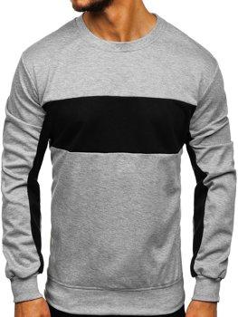 Bolf Herren Sweatshirt ohne Kapuze  Grau JZ11050