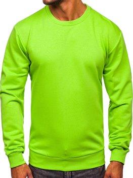 Bolf Herren Sweatshirt ohne Kapuze Hellgrün  171715