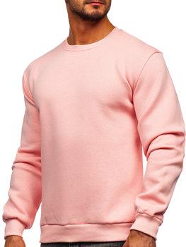Bolf Herren Sweatshirt ohne Kapuze Hellrosa  2001