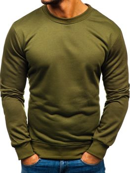Bolf Herren Sweatshirt ohne Kapuze Khaki  22003