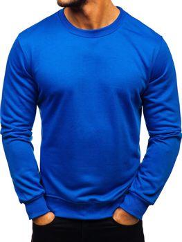 Bolf Herren Sweatshirt ohne Kapuze Kobaltblau  22003