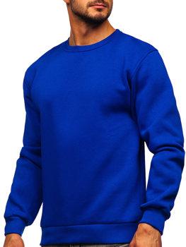 Bolf Herren Sweatshirt ohne Kapuze Mittelblau  2001