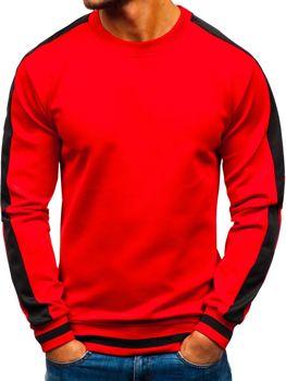 Bolf Herren Sweatshirt ohne Kapuze Rot  99009