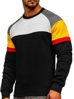 Bolf Herren Sweatshirt ohne Kapuze Schwarz  KS2219