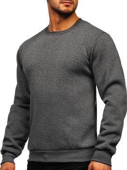 Bolf Herren Sweatshirt ohne Kapuze Schwarzgrau  2001