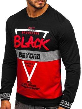 Bolf Herren Sweatshirt ohne Kapuze mit Motiv Rot  HY540