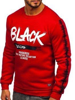 Bolf Herren Sweatshirt ohne Kapuze mit Motiv Rot  HY604