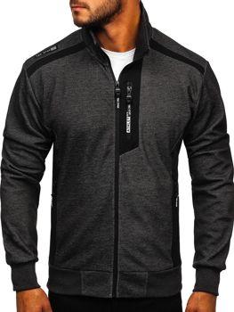Bolf Herren Sweatshirts mit Reißverschluss mit Motiv Schwarz-Weiß  TC1019