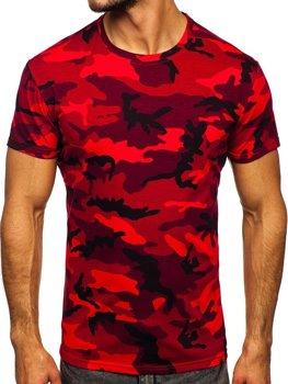 Bolf Herren T-Shirt Camo Rot  S807