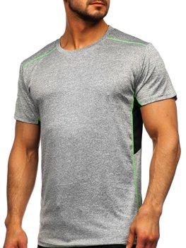 Bolf Herren T-Shirt Sportshirt Grau  HM075