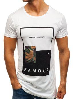 Bolf Herren T-Shirt Weiß 1014