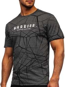 Bolf Herren T-Shirt mit Motib Grau SS10935