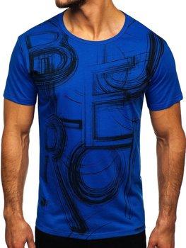 Bolf Herren T-Shirt mit Motiv Blau KS2525T