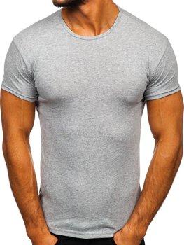 Bolf Herren T-Shirt mit Motiv Grau  0001