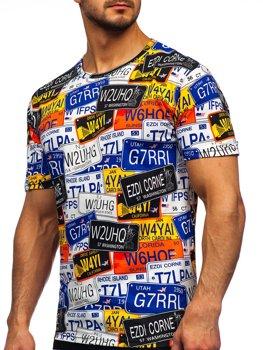Bolf Herren T-Shirt mit Motiv Mehrfarbig  14925