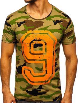 Bolf Herren T-Shirt mit Motiv Mehrfarbig  2101C