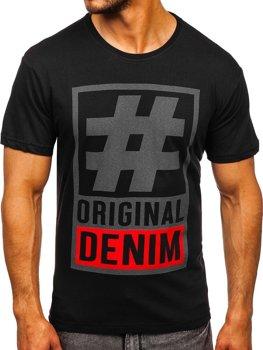 Bolf Herren T-Shirt mit Motiv Schwarz  008