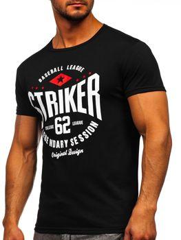Bolf Herren T-Shirt mit Motiv Schwarz 10816