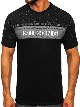 Bolf Herren T-Shirt mit Motiv Schwarz  14204