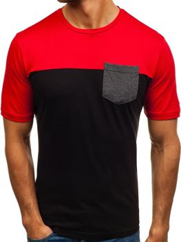 Bolf Herren T-Shirt mit Motiv Schwarz  6309