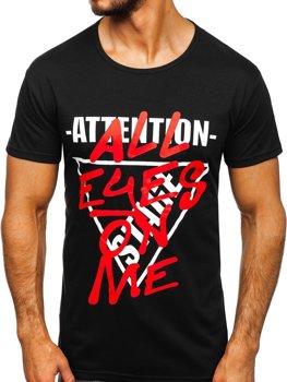 Bolf Herren T-Shirt mit Motiv Schwarz  KS1995