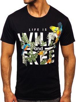Bolf Herren T-Shirt mit Motiv Schwarz  KS2550