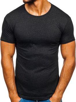 Bolf Herren T-Shirt mit Motiv Schwarzgrau  0001