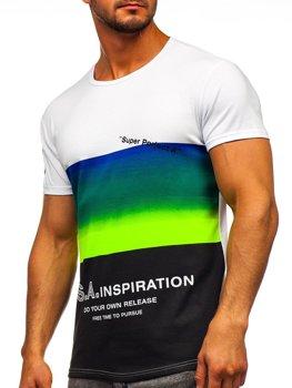Bolf Herren T-Shirt mit Motiv Selanongrün  SS10919
