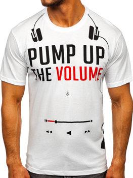 Bolf Herren T-Shirt mit Motiv Weiß  1171