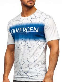 Bolf Herren T-Shirt mit Motiv Weiß 14424
