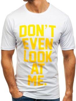 Bolf Herren T-Shirt mit Motiv Weiß  6294