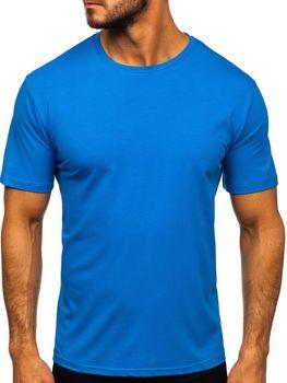 Bolf Herren T-Shirt ohne Motiv Blau  192132