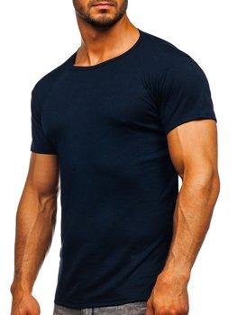 Bolf Herren T-Shirt ohne Motiv Dunkelblau  NB003