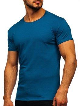 Bolf Herren T-Shirt ohne Motiv Indigo  2005