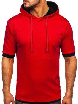 Bolf Herren T-Shirt ohne Motiv Rot  08