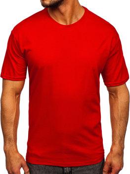 Bolf Herren T-Shirt ohne Motiv Rot  192397