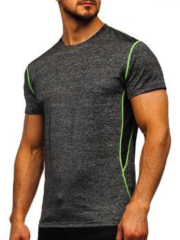 Bolf Herren T-Shirt ohne Motiv Schwarz  KS2104