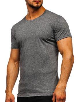 Bolf Herren T-Shirt ohne Motiv Schwarzgrau  2005