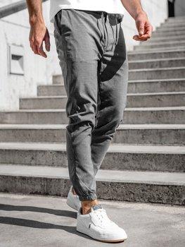 Bolf Herren Textil Hose Jogger Pants Anthrazit  0011