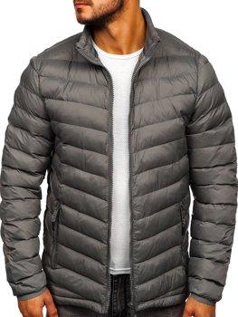 Bolf Herren Übergangsjacke Sport Jacke Grau  SM70