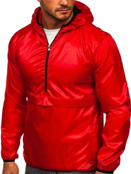 Bolf Herren Übergangsjacke Sport Jacke mit Kapuze Rot  5061