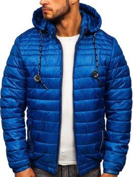 Bolf Herren Übergangsjacke Sport Jacke mit Steppmuster Blau  50A411