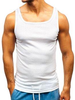 Bolf Herren Unterhemd Weiß  C10049