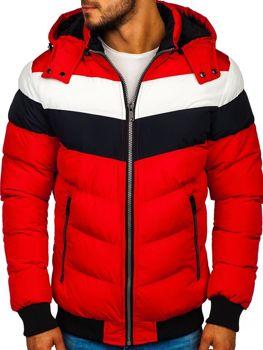 Bolf Herren Winterjacke Rot  5808