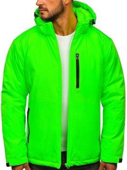 Bolf Herren Winterjacke Skijacke Grün-Neon  HH011