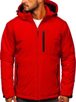 Bolf Herren Winterjacke Skijacke Rot  HH011