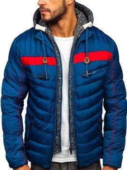 Bolf Herren Winterjacke Sport Jacke mit Steppmuster Blau  50A71